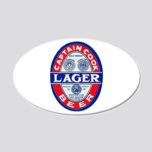 New Zealand Beer Label 9 20x12 Oval Wall Decal