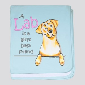 Yellow Lab BF baby blanket