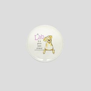 Yellow Lab BF Mini Button