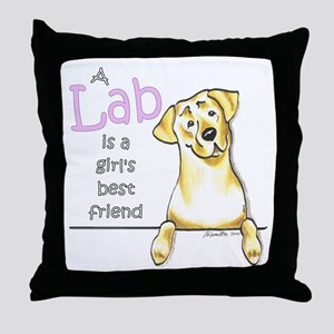 Yellow Lab BF Throw Pillow