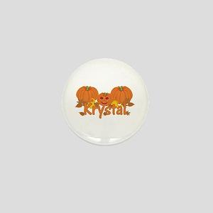 Halloween Pumpkin Krystal Mini Button