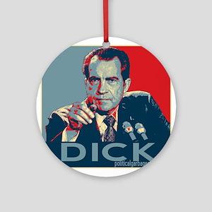 """Nixon - """"DICK"""" Ornament (Round)"""