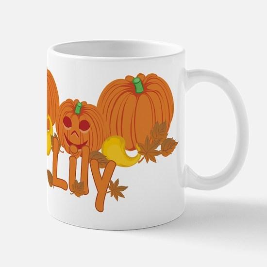 Halloween Pumpkin Lily Mug