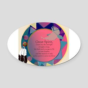 3-SpiritSHEILDpts Oval Car Magnet