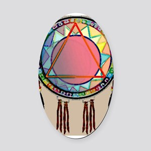 AllONEtribe Oval Car Magnet