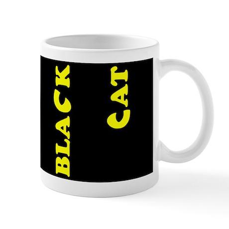 Black Cat (yellow) Mug