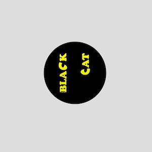 Black Cat (yellow) Mini Button