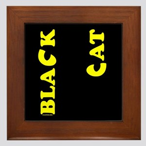 Black Cat (yellow) Framed Tile