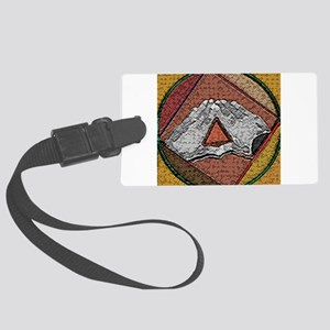 trianglehands copy Large Luggage Tag