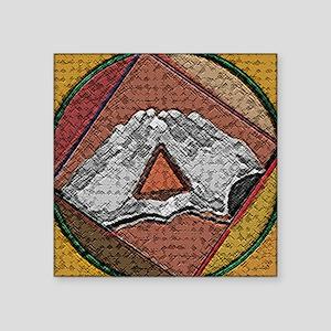 "trianglehands copy Square Sticker 3"" x 3"""