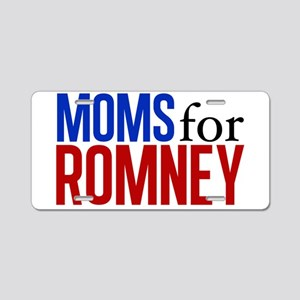 Moms for Romney Aluminum License Plate