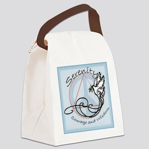 serenityDOVE001 Canvas Lunch Bag