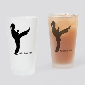 Karate Personalized Drinking Glass