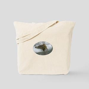 Seal Looking Over Shoulder Tote Bag