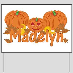 Halloween Pumpkin Madelyn Yard Sign