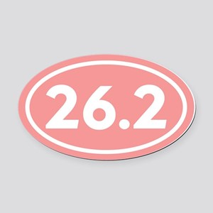 26.2 Marathon Runner Oval Car Magnet