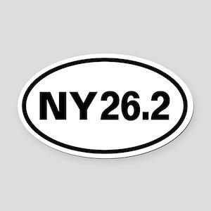 26.2 New York Marathon Oval Oval Car Magnet