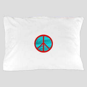 peace red Pillow Case