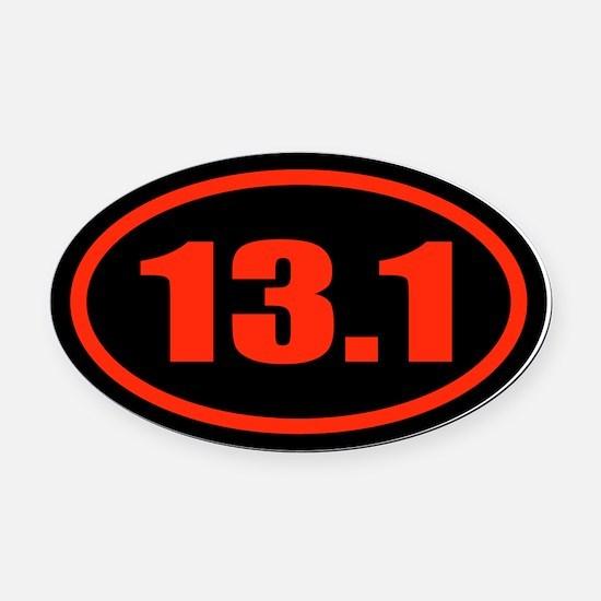 13.1Half Marathon Oval Car Magnet