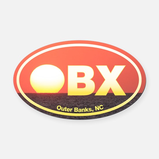 OBX Outer Banks Sunset Oval Car Magnet