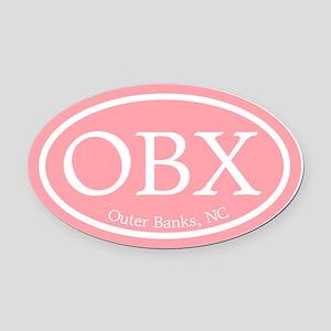 Outer Banks.OBX.MattAntique.pink Oval Car Magn