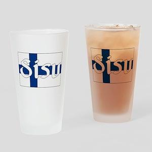 Finnish Sisu (Finnish Flag) Drinking Glass