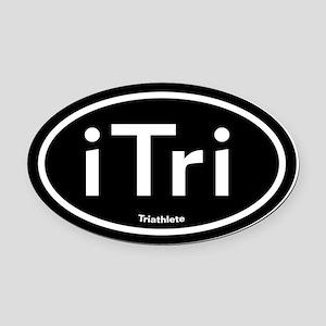 iTri Triathlete Oval Car Magnet