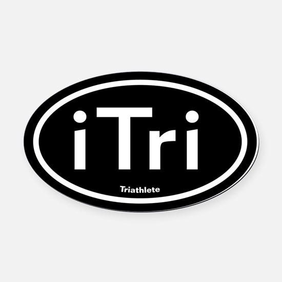 iTri Triathlete Oval Car Magnet