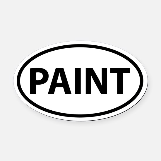 PAINT Oval Car Magnet