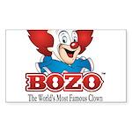 Bozo face Sticker (Rectangle 10 pk)