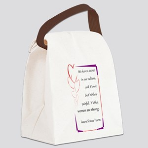 BirthStrongHeart Canvas Lunch Bag