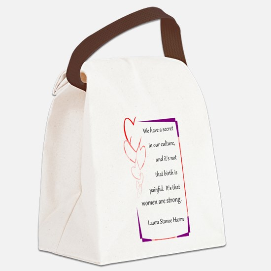 BirthStrongHeart.PNG Canvas Lunch Bag