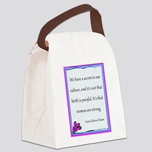 BirthStrongFlower Canvas Lunch Bag