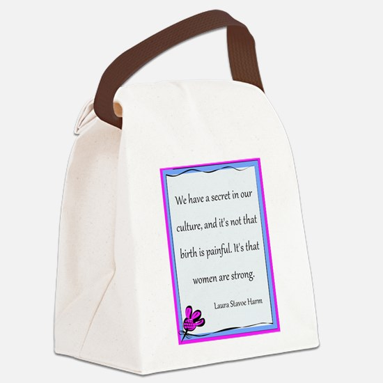 BirthStrongFlower.PNG Canvas Lunch Bag