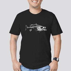 Striped Bass Skeleton Men's Fitted T-Shirt (dark)