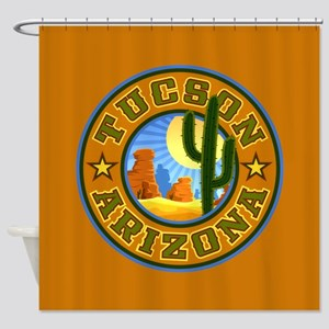 Tucson Desert Circle Shower Curtain