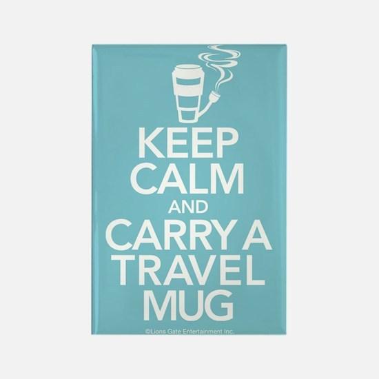 Keep Calm and Carry Travel Mug Rectangle Magnet