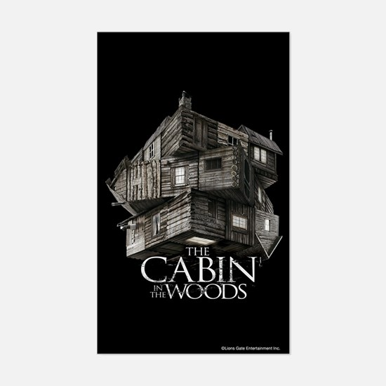 Cabin in the Woods Cube Sticker (Rectangle)