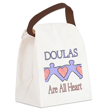 Doulas Are All Heart Canvas Lunch Bag
