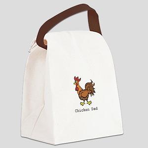 ChickenDad_clr Canvas Lunch Bag