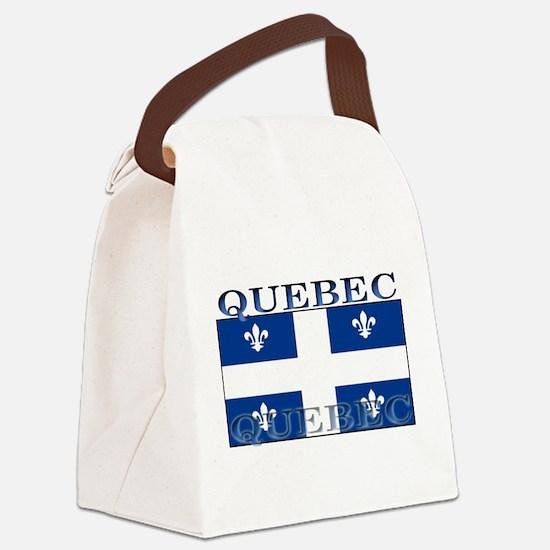 Quebecblack.png Canvas Lunch Bag