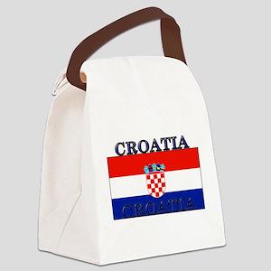 Croatiablack Canvas Lunch Bag