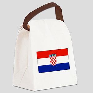 Croatiablankblack Canvas Lunch Bag