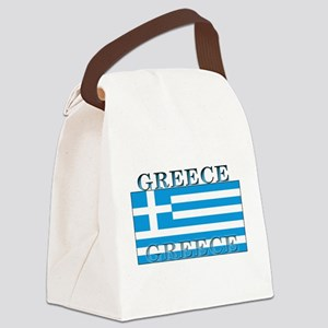 Greeceblack Canvas Lunch Bag