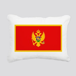 Montenegroblankblack Rectangular Canvas Pillow