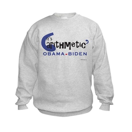 "Obama-Biden ""it's arithmetic"" Kids Sweatshirt"
