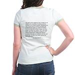 """Bible on a Plane"" Jr. Ringer T-Shirt"