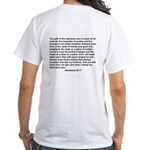 """""""Bible on a Plane"""" White T-Shirt"""