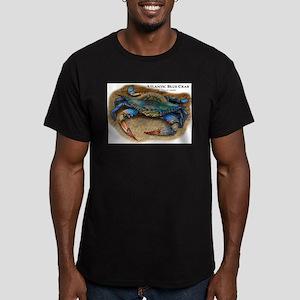 Atlantic Blue Crab Men's Fitted T-Shirt (dark)