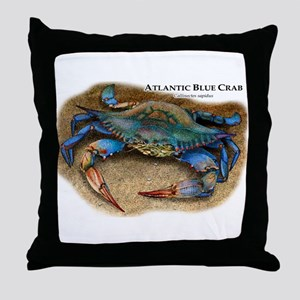 Atlantic Blue Crab Throw Pillow